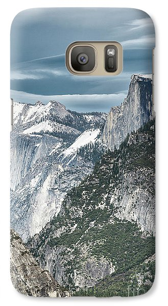 Galaxy Case featuring the photograph Storm Over Half Dome by Sandra Bronstein