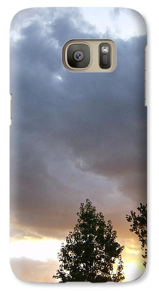 Galaxy Case featuring the photograph Storms On The Horizon by Skyler Tipton