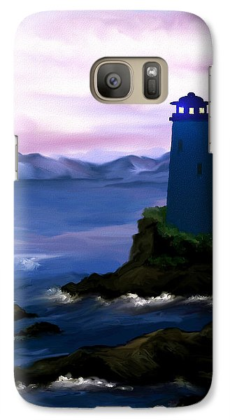 Galaxy Case featuring the painting Stormy Blue Night by Susan Kinney