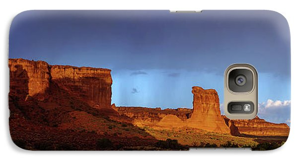 Galaxy Case featuring the photograph Stormy Desert by Chad Dutson