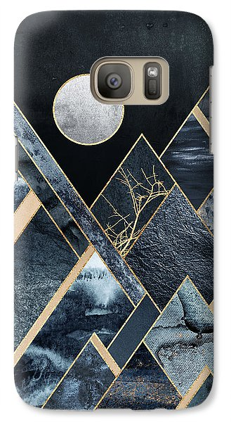 Mountain Galaxy S7 Case - Stormy Mountains by Elisabeth Fredriksson