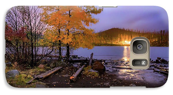 Galaxy Case featuring the photograph Stormy Night At Round Lake by Cat Connor