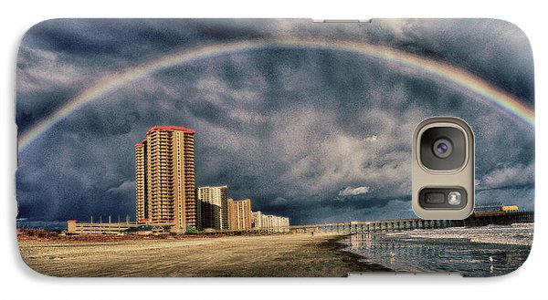 Galaxy Case featuring the photograph Stormy Rainbow by Kelly Reber