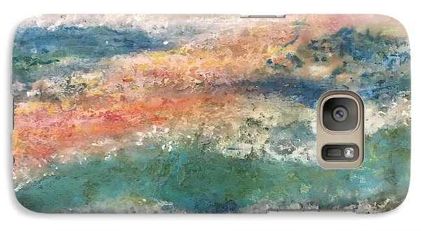 Galaxy Case featuring the painting Stormy Seas by Kim Nelson