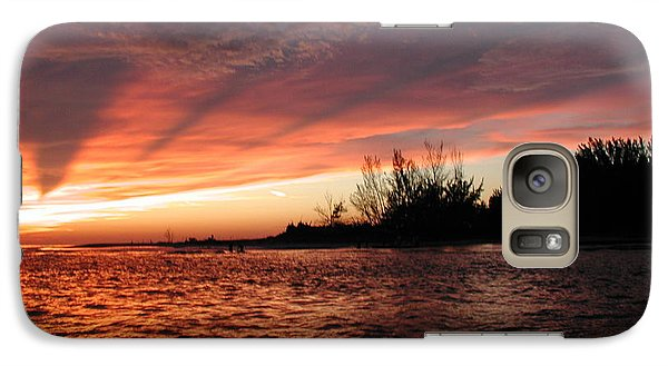 Galaxy Case featuring the photograph Stormy Sunset by Nancy Taylor