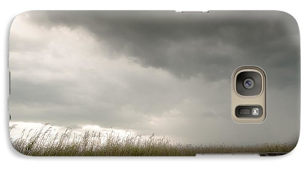 Galaxy Case featuring the photograph Stormy Walk by Allen Biedrzycki