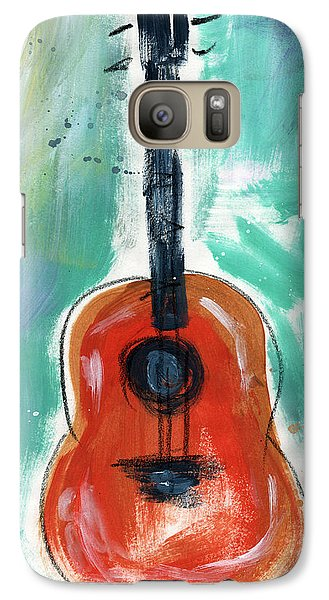 Music Galaxy S7 Case - Storyteller's Guitar by Linda Woods