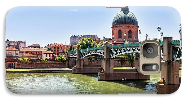 Galaxy Case featuring the photograph St.pierre Bridge In Toulouse by Elena Elisseeva
