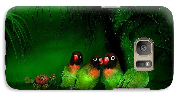 Strange Love Galaxy Case by Carol Cavalaris