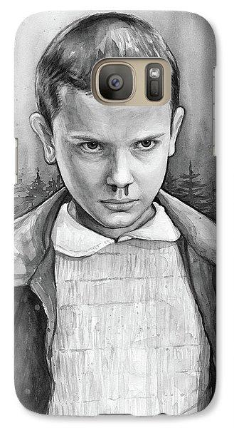 Science Fiction Galaxy S7 Case - Stranger Things Fan Art Eleven by Olga Shvartsur