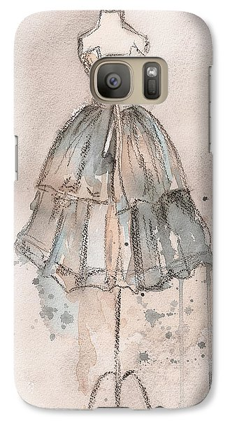 Strapless Champagne Dress Galaxy S7 Case by Lauren Maurer
