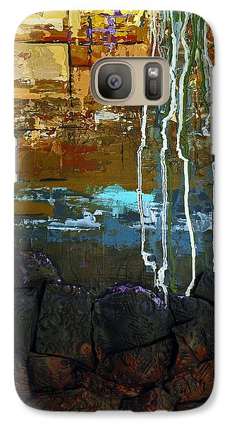 Galaxy Case featuring the painting Strata by Suzanne McKee