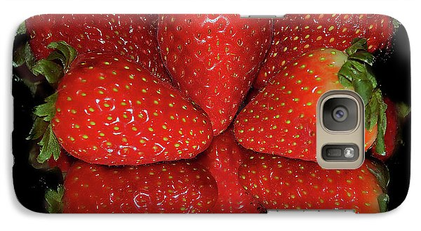 Galaxy Case featuring the photograph Strawberry by Elvira Ladocki