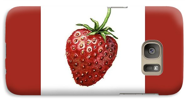 Galaxy Case featuring the painting Strawberry by Heidi Kriel