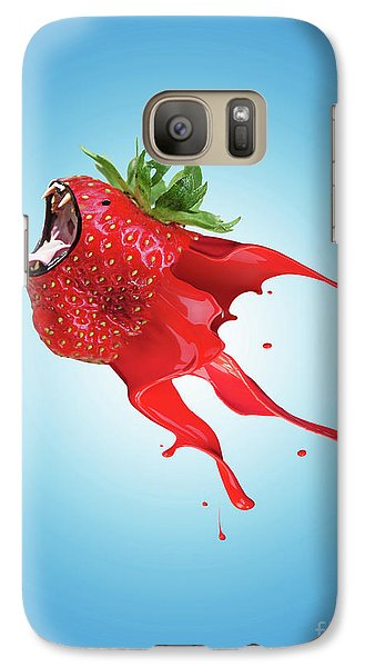 Galaxy Case featuring the photograph Strawberry by Juli Scalzi