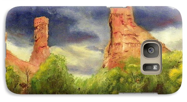 Galaxy Case featuring the painting Strawberry Pinnacles by Sherril Porter