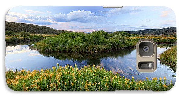 Galaxy Case featuring the photograph Strawberry River With Summer Flowers. by Johnny Adolphson