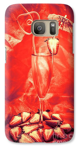 Martini Galaxy S7 Case - Straweberry Tropical Cocktail Drink by Jorgo Photography - Wall Art Gallery