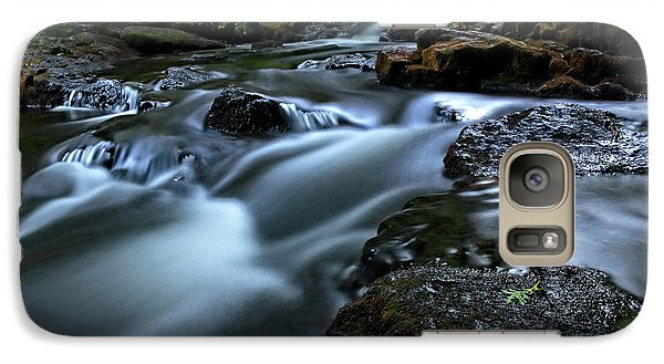 Galaxy Case featuring the photograph Stream Over Rocks by Charline Xia