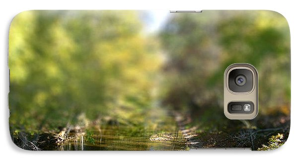 Galaxy Case featuring the photograph Stream Reflections by EricaMaxine  Price