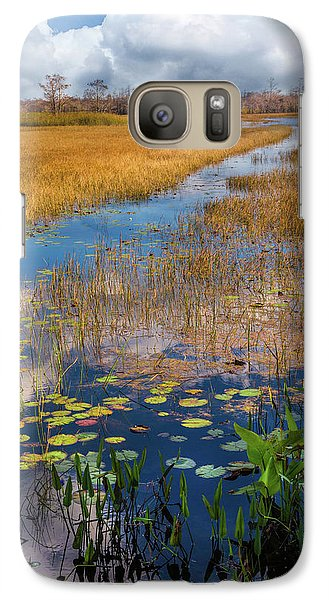 Galaxy Case featuring the photograph Stream Through The Everglades by Debra and Dave Vanderlaan