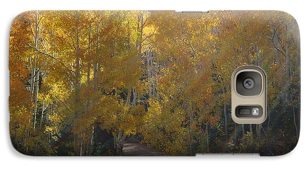 Galaxy Case featuring the photograph Streaming Light Paiute Trail Fremont Utah by Deborah Moen