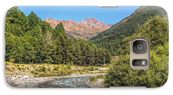 Galaxy Case featuring the photograph Streaming Through The Alps by Brent Durken