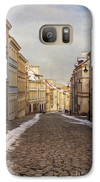 Galaxy Case featuring the photograph Street In Warsaw, Poland by Juli Scalzi