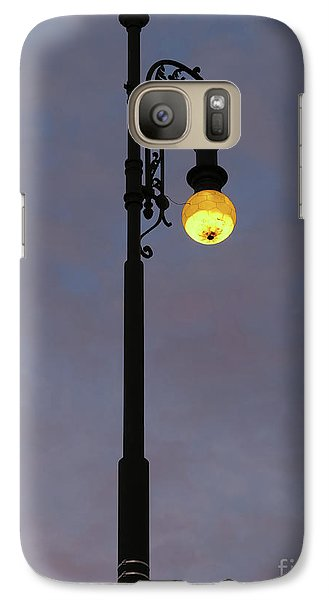 Galaxy Case featuring the photograph Street Lamp Shining At Dusk by Michal Boubin