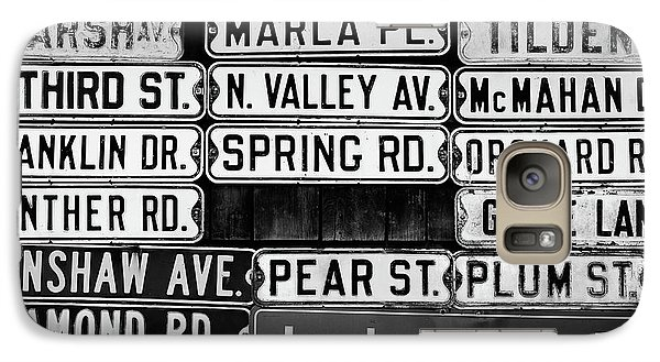 Galaxy Case featuring the photograph Street Names by Colleen Kammerer