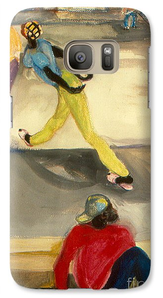 Galaxy Case featuring the painting Street Scene by Daun Soden-Greene