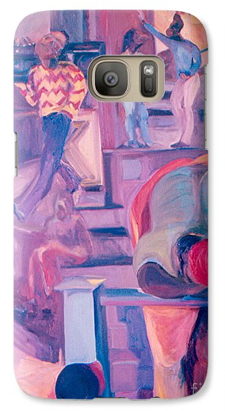 Galaxy Case featuring the painting Street Scenes by Daun Soden-Greene