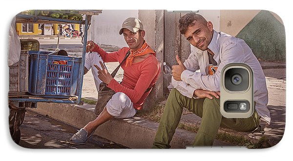 Galaxy Case featuring the photograph Street Vendors In Cienfuegos Cuba by Joan Carroll