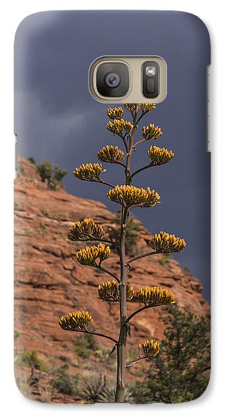Galaxy Case featuring the photograph Stretching Into A Threatening Sky by Laura Pratt