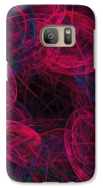 Galaxy Case featuring the digital art String Time Abstract by Andee Design