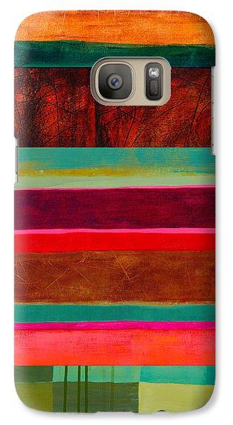 Stripe Assemblage 1 Galaxy Case by Jane Davies