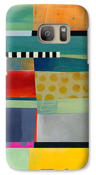 Stripe Assemblage 2 Galaxy S7 Case by Jane Davies