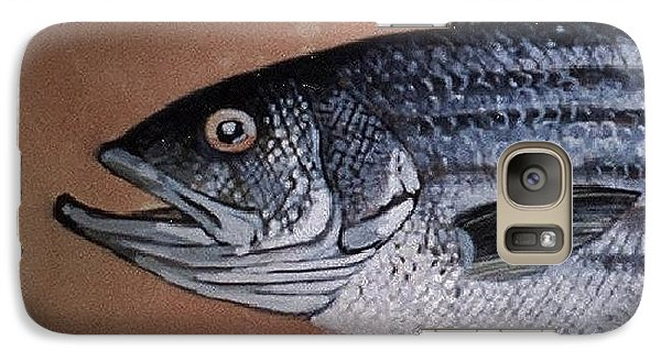 Galaxy Case featuring the ceramic art Striped Bass 1 by Andrew Drozdowicz