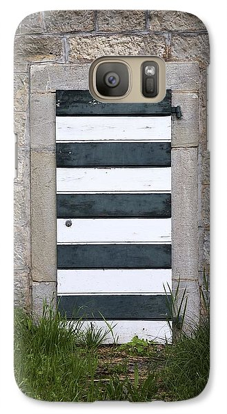Galaxy Case featuring the photograph Striped Door by Colleen Williams