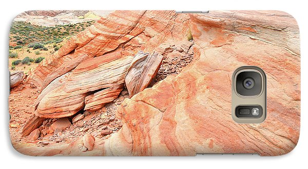 Galaxy Case featuring the photograph Striped Sandstone Along Park Road In Valley Of Fire by Ray Mathis
