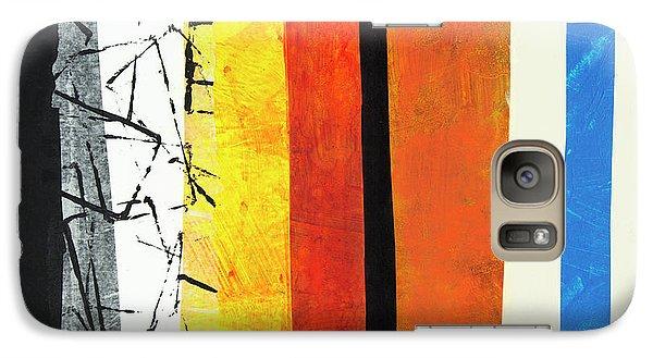 Galaxy Case featuring the mixed media Stripes by Elena Nosyreva