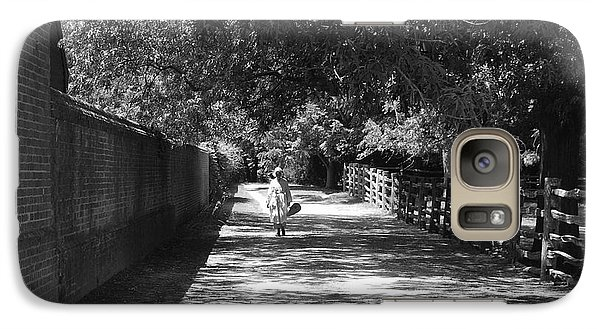 Galaxy Case featuring the photograph Stroll To Store by Eric Liller
