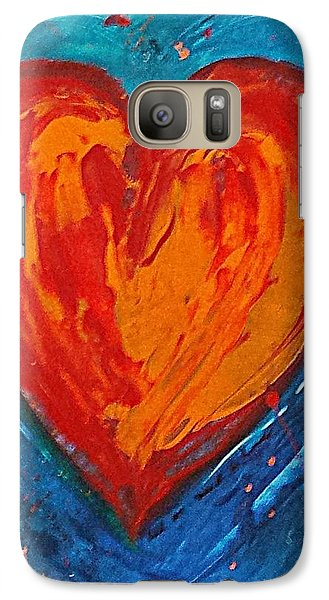 Galaxy Case featuring the painting Strong Heart by Diana Bursztein
