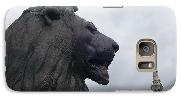 Galaxy Case featuring the photograph Strong Lion by Mary Mikawoz