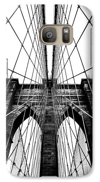 Brooklyn Bridge Galaxy S7 Case - Strong Perspective by Az Jackson