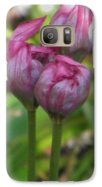 Galaxy Case featuring the photograph Struggle To Bloom by Manuela Constantin
