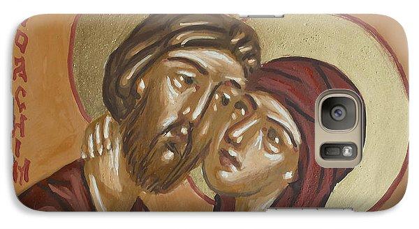 Galaxy Case featuring the painting Saints Joachim And Anna by Olimpia - Hinamatsuri Barbu