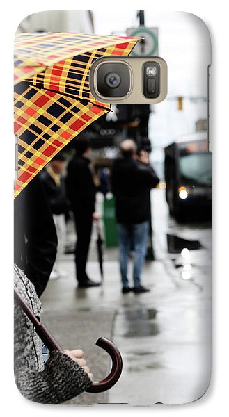 Galaxy Case featuring the photograph Stuck Down by Empty Wall