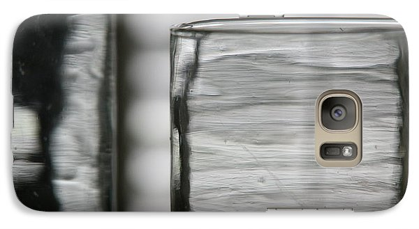 Galaxy Case featuring the photograph Studies In Glass ...shades Of Grey by Lynn England