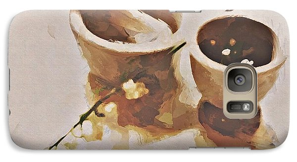 Galaxy Case featuring the digital art Study In Brown by Alexis Rotella